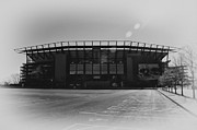 Phila Framed Prints - The Linc in Black and White Framed Print by Bill Cannon