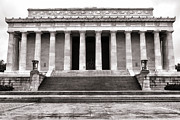 Front Steps Posters - The Lincoln Memorial Poster by Olivier Le Queinec