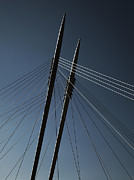 Thomas Berger Metal Prints - The lines of the bridge 3 Metal Print by Thomas Berger