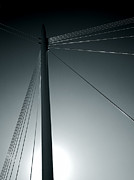 Thomas Berger Metal Prints - The lines of the bridge 4 Metal Print by Thomas Berger