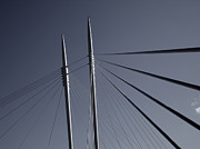 Thomas Berger Metal Prints - The lines of the bridge Metal Print by Thomas Berger
