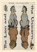 Paper Dolls Framed Prints - The Lion and the Unicorn. Magic Changelings by M. A. Glenn Framed Print by Pierpont Bay Archives