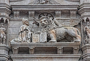 Byzantine Metal Prints - The Lion of Saint Mark II Metal Print by Lee Dos Santos
