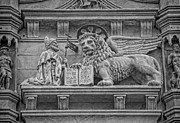 Byzantine Metal Prints - The Lion of Saint Mark Metal Print by Lee Dos Santos