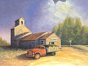 Heartland Paintings - The Lisco Elevator by Jerry McElroy