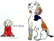 Father And Son Drawings - The Little Beagle  by Brian Buckley