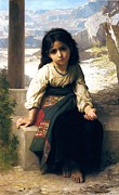 Old Masters Posters - The Little Beggar Poster by William Bouguereau