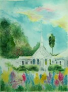 The Little Country Church Print by Melanie Palmer