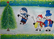 Skating Mixed Media - The Little Drummer Boy by Bonnie Wright