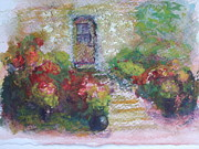 Paysage A L Prints - The little stone house with flowers Print by Pierre Robillard