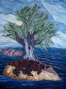 Storm Prints Painting Prints - The Living Tree Martyr Print by Cheryl Kennedy