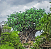 Magic Kingdom Photographs Prints - The Living Tree Walt Disney World Print by Thomas Woolworth