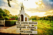 Living Water Posters - The Living Water Wayside Chapel Poster by Scott Pellegrin