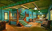 Fray Prints - The Lobby Of The Fred Harvey Fray Marcos Hotel In Williams Az In 1903 Print by Dwight Goss