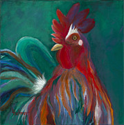 Rooster Art - The Lobbyist by Lynn Rattray