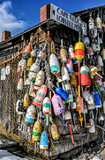 Shack Photos - The Lobster Pound - Cape Neddick Maine by Thomas Schoeller