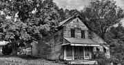 Old Farm Houses Prints - The Local Haunted House Print by Heather Applegate