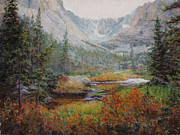 Hiking Pastels Posters - The Loch Poster by Mary Giacomini