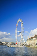 London Eye River Cruise Prints - The London eye Print by Patricia Hofmeester