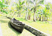 Banana Tree Photos - The lone boat by Joe Zachariah