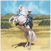 Comics Paintings - The Lone Ranger by Dick Bobnick