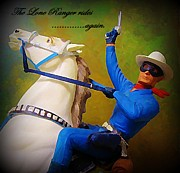 John Malone Art Work Digital Art Posters - The Lone Ranger Rides Again Poster by John Malone