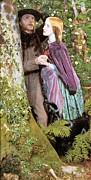Tree Ferns Digital Art - The Long Engagement by Arthur Hughes