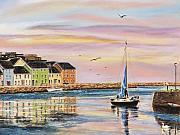 The Long Walk- Evening Sky Print by Vanda Luddy