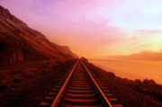 Railroad Metal Prints - The Long Walk To No Where  Metal Print by Jeff  Swan