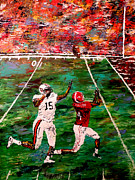 Alabama Sports Art Posters - The Longest Yard - Alabama vs Auburn Football Poster by Mark Moore