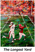 Alabama Sports Art Posters - The Longest Yard Named  Poster by Mark Moore