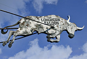 Stockyards Posters - The Longhorn Saloon Poster by David and Carol Kelly