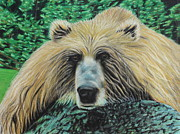 Mammal Pastels Metal Prints - The Look Metal Print by Jeanne Fischer