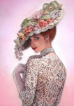 Ladies Pastels Prints - The Look of Love Print by Sue Halstenberg