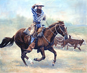 Rodeo Paintings - The Loop by Michelle Grant