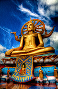 Sitting  Digital Art Prints - The Lord Buddha Print by Adrian Evans
