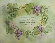 Grapevines Posters - The Lord is near Poster by Becky West