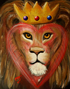 Lion Of Judah Paintings - The LORD Of My Heart by Pamorama Jones