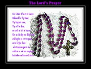 Rosary Posters - The Lords Prayer Poster by Barbara Griffin