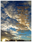 Biblical Digital Art Framed Prints - The Lords Prayer Framed Print by Glenn McCarthy Art and Photography
