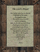 The Lord's Prayer Print by Roger Reeves  and Terrie Heslop