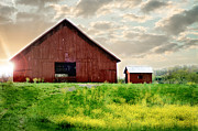Tennessee Barn Digital Art Posters - The Lost Barn Poster by Melissa Blazer