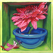 Gerbera Daisy Paintings - The Lost ones by Paige Wallis