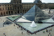 Andrew Harrison Acrylic Prints - The Louvre  Acrylic Print by Andrew Harrison