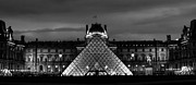 Strict Framed Prints - The Louvre Pyramid Framed Print by Olivier Sohn