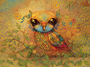 Love The Animal Prints - The Love Bird Print by Karin Taylor