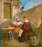 Love Letter Painting Posters - The Love Letter Poster by Carl Spitzweg