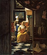 Love Letter Prints - The Love Letter Print by Johannes Vermeer
