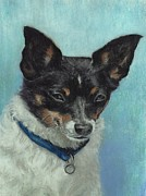 Terriers Pastels - The Love of a Dog by Pamela Humbargar