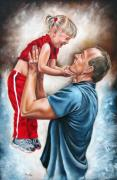 Family Love Painting Posters - The Love of the Father Poster by Ilse Kleyn